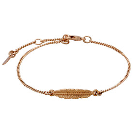 Pilgrim Feather/Leaf  Bracelet Rose Gold Plated 16.5cm + 3cm  601814002