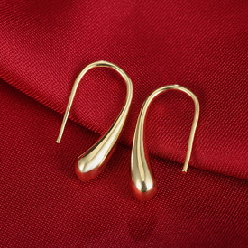 925 Gold Tear Drop Hook Earrings  + Gift Bag