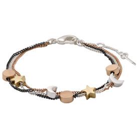 Pilgrim Bracelet Mixed Metal Gold, Silver, Rose Gold, Hematite