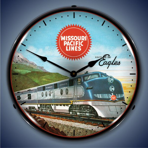 Southern Pacific Lighted Wall Clock