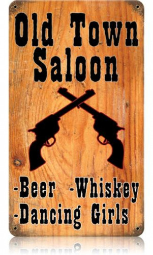 Personalized Street Signs >> Retro Old Town Saloon Tin Sign 8 x 14 Inches