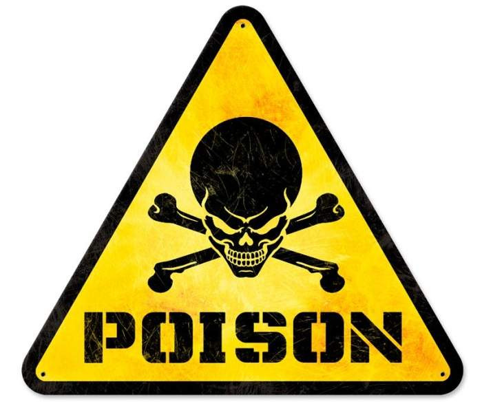 Retro Poison Triangle Tin Sign