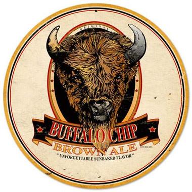Retro Buffalo Chip Brown Ale Tin Sign