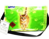 Messenger Bolsa - Green Cat - Hill Country Fare 4 Flavor Morsels