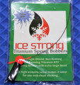 Ice Strong Titanium Spring Bobbers #70 XL With Flame Red Bead