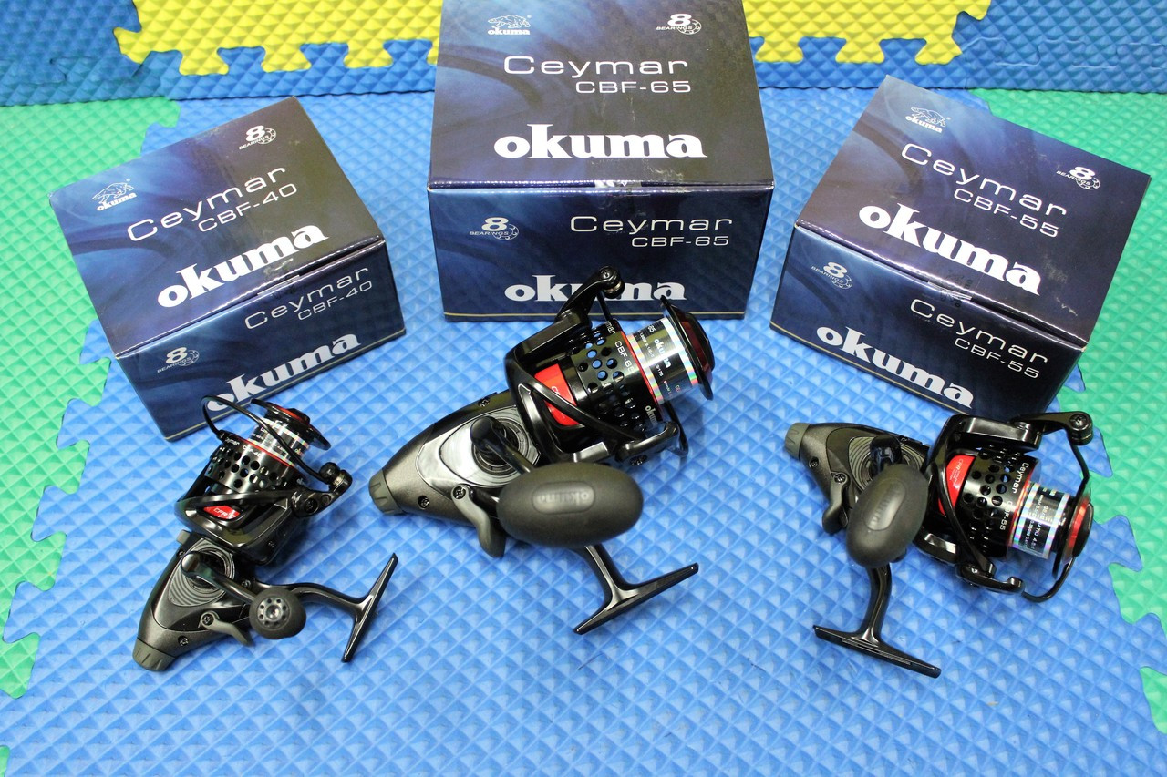 Okuma Ceymar Baitfeeder Spinning Reel 8BRG CBF Series
