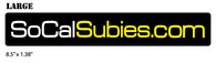 SoCalSubies Sticker (Large)