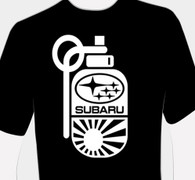 Subie Grenade/Bomb Shirt (Zoomed in)