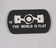 The World Is Flat Dog Tag Keychain