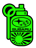 Subie Grenade / Bomb Sticker - Green / Black