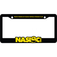 NASIOC Molded License Plate Frame