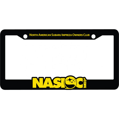 NASIOC Molded License Plate Frame