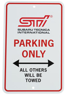 STi Parking Only Sign