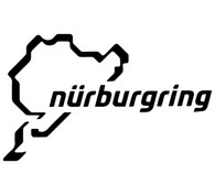 Nurburgring Track Outline Decal - Classic