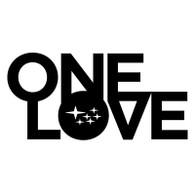 Subie One Love Sticker Decal (Black)