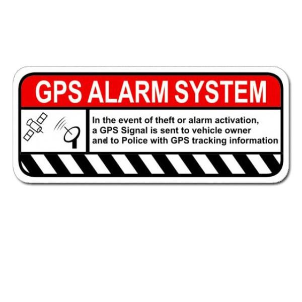 gps alarm warning sticker gps alarm warning decal gps. Black Bedroom Furniture Sets. Home Design Ideas