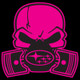 Pink Subie Gas Mask Skull - Acrylic Sticker (actual decal colors may be slightly different)