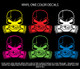 Subie Gas Mask Skull - Vinyl One Color Stickers (actual decal colors may be slightly different)