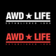 AWD * LIFE Print for Sticker & Hoodie