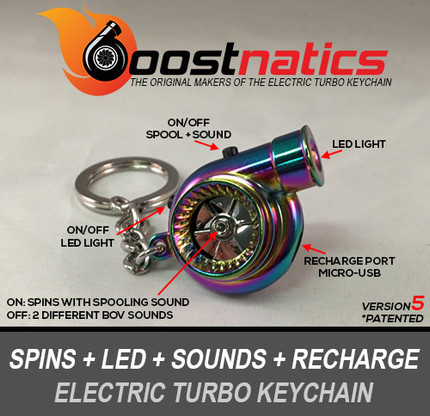 Rechargeable Electric Turbo Keychain - V5