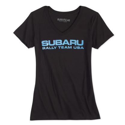 SUBARU Rally Team USA Glitter T-Shirt (Ladies)