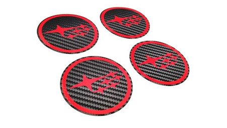 Star Cluster Carbon Fiber Wheel Center Caps