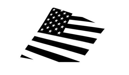 15+ WRX / STI American Flag Rear Side Window Decal Stickers