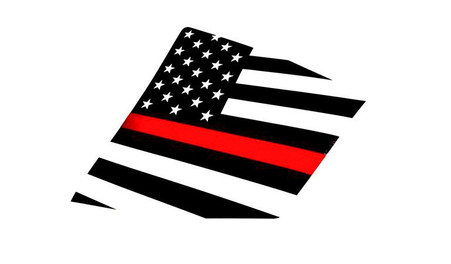 15+ WRX / STI Thin Red Line American Flag Rear Side Window Decal Stickers