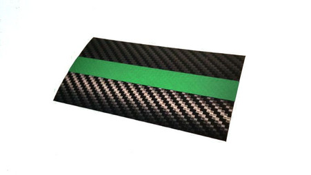 Thin Green Line Flag with Carbon Fiber Background