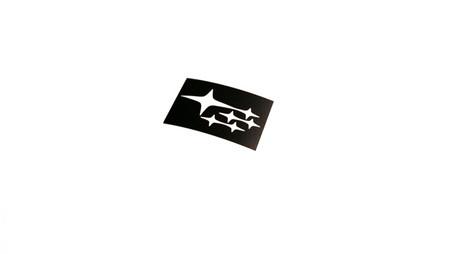 Subie Stars License Plate Sticker Decal