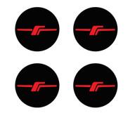 "Forester JDM ""F"" Wheel Center Caps ( No Borders)"