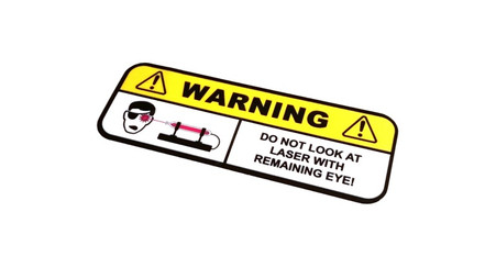 Laser Warning Sticker