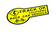 Yellow & Black Track OK Sticker Decal