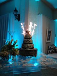 Custom Champagne Bottle Sparklers Cake Wedding Firework Displays