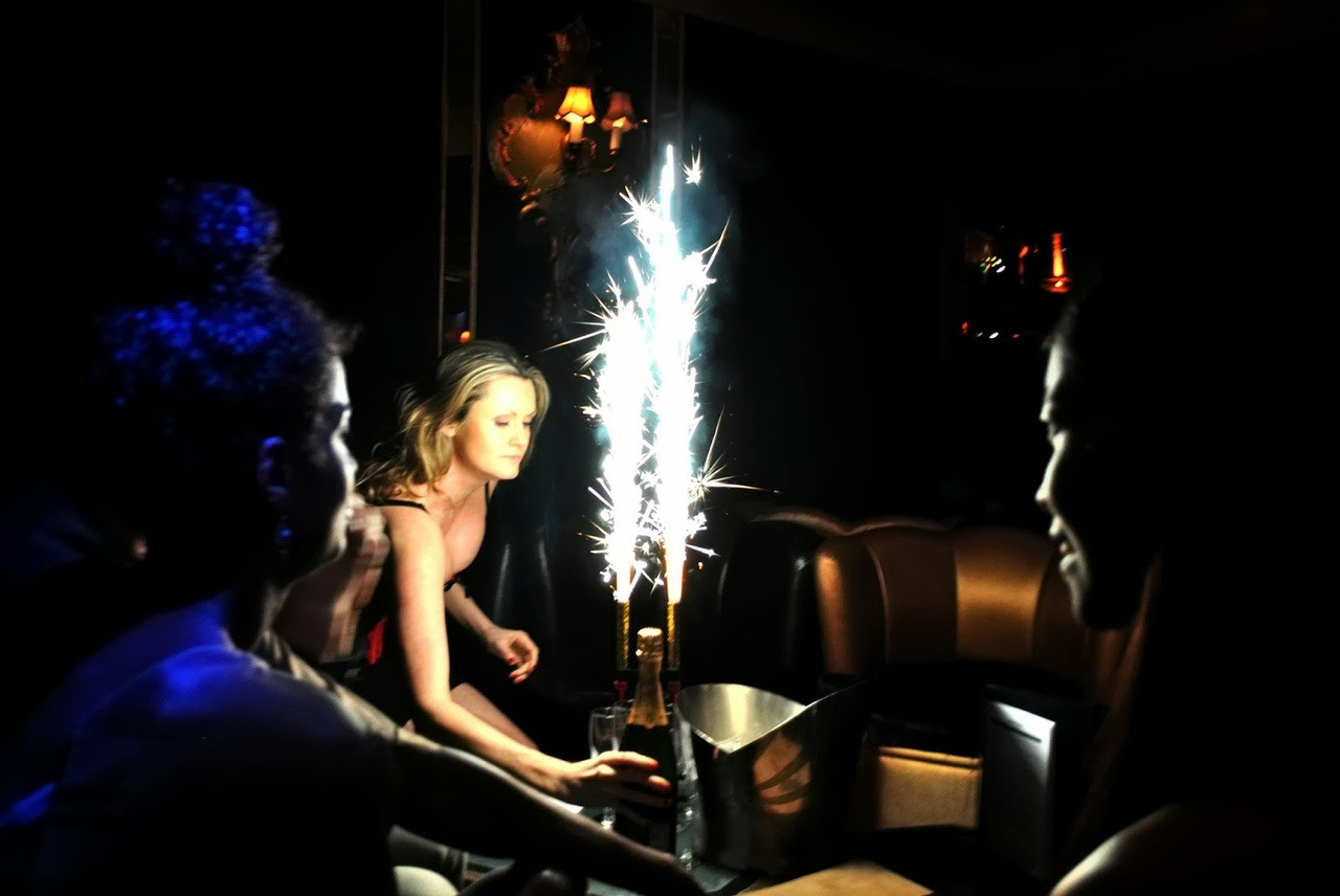 Color Sparklers Vip Bottle Champagne Colorfull Different