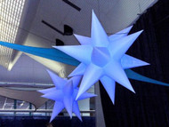 LED INFLATABLE  STAR NIGHTCLUB DECORATION 12 SPIKES