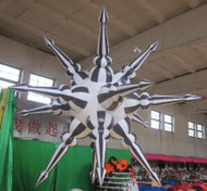 BLACK/WHITE STAR INFLATABLE