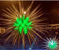 LED INFLATABLE  STAR DECORATION  81 spikes
