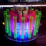 LED RGB  TEST TUBE SHOT RACK 32 hole