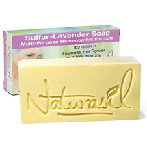 Naturasil Sulfur-Lavender Medicated Soap SKU: NSLMS4 UPC: 855822001304