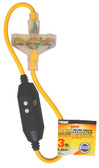 PRIME 320803 - 3' 12/3 SJTW INLINE TRIPLE TAP GFCI