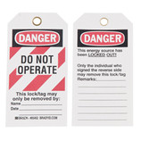 BRADY DO NOT OPERATE LOCKOUT TAGS 10/PK 65452