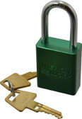 """AMERICAN LOCK GREEN 1-1/2"""" SHANK SOLID ALUMINUM PADLOCK A1166 KEYED DIFFERENTLY A1166GRN"""