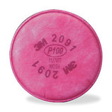 3M RESPIRATOR FILTER P100 2 PACK 2091