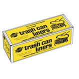 "36"" X 56"" BLACK TRASH CAN LINER - 55 GAL / 1.75 MIL / 50/BX - FB55-50"