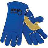MEMPHIS BLUE LEATHER DOUBLE REINFORCED PALM & THUMB SEWN 4500