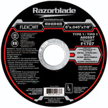 "FLEXOVIT 6"" X .045 X 7/8"" TYPE 1 METAL, STAINLESS RAZORBLADE CUTOFF WHEEL F1707 25/BX"