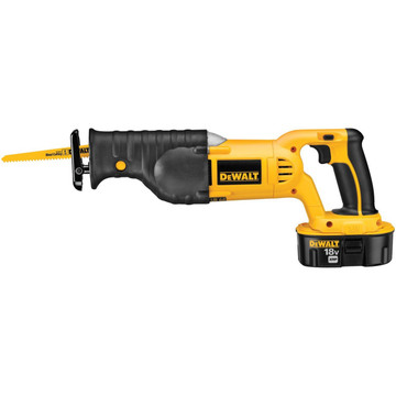 The DEWALT DC385K 18-Volt Cordless XRP Ni-Cad Reciprocating Saw Kit will help you make quick work of demolition tasks involved in renovations and remodels. Featuring variable-speed trigger, and a powerful DEWALT XRP extended run-time battery system, this saw is built for control and power. The kit includes a quick one-hour charger, 18 volt XRP battery, and handy carrying kit box so you can recharge and be back at it in no time.