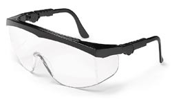 b93fbc625a3 CREWS TOMAHAWK BLACK FRAME CLEAR LENS SAFETY GLASSES TK110. Price   1.40.  Image 1. Larger   More Photos