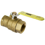 "FNW 1-1/2"" BALL VALVE BRASS 410 SERIES 600# WOG THREADED"